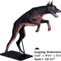 Leaping Doberman Dog 48