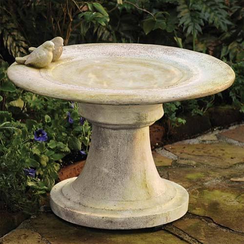 Giannola Birdbath w/Finches