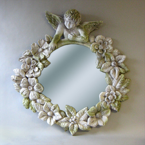 Beautiful Mirror round cherub mirror frame 30 - orlandi statuary - online wholesale