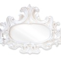 Oval Scroll Mirror 42 W