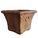 Square Basket Planter W/Rings