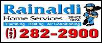Website for Rainaldi Plumbing, Inc.