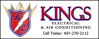 Website for Kings Electric & Air Conditioning