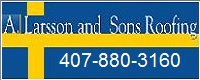 Website for A Larsson & Sons Roofing Inc.