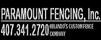 Website for Paramount Fencing, Inc.
