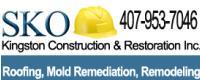 Website for SKO-Kingston Construction & Restoration, Inc.
