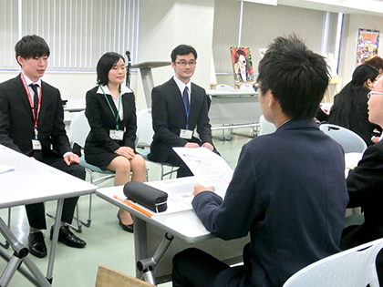 【シューカツ対策講座】面接ロールプレイング実施!!