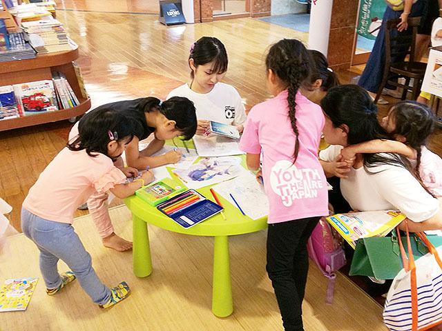 「絵本のイラストぬり絵体験プログラム」を実施!!! @喜久屋書店阿倍野店