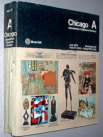 Chicago white pages telephone book