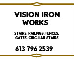 Website for Vision Iron Works