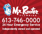 Website for Mr Rooter Plumbing of Ottawa