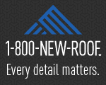 Website for 1-800-New-Roof Canada Inc.