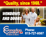 Website for Canadian Comfort Windows and Doors