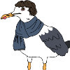 This is Sherlock. He is a seagull detective. He likes fish, but not because he's a seagull. That's racist.
