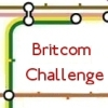 "An icon of the London Tube map with text ""Britcom Challenge."""