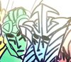 A close up of both Crosshair's and Drift's face from fanart.