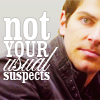 "An image of David Giuntoli with the caption ""not your usual suspects"""