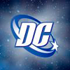 DCU white logo. In space.