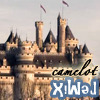 camelot castle with up-side-down text 'remix'