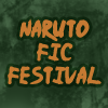 "Plain green background with the text ""Naruto Fic Festival."""