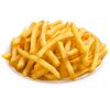 a plate of french fries, that's it