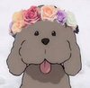 icon image - Makkachin with a flower crown