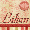 Lilian hearts on soft red/pink wallpaper.