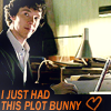 "Sherlock with a laptop ""I just had this plotbunny"""