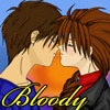 Bloody Heero/Duo kiss