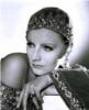 Black and white picture of Greta Garbo.