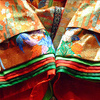 close-up of junihitoe sleeves
