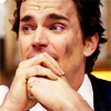 Still of Matt Bomer as Neal Caffrey from White Collar  with charcoal on his face