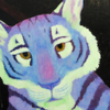 purple and green tiger