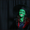Trialia costumed as Elphaba (Wicked)