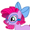 Lavender pony w/ pink mane & blue glasses/hairbow