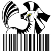 A barcode and a zebra
