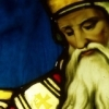 Cropped painting of Saint Augustine