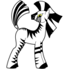 A cartoon zebra