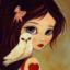 Girl with owl who looks sorta like me
