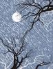 rain moon trees