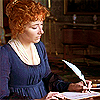 Elinor (Emma Thompson version) from Sense and Sensibility writing