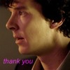 Sherlock says thank you