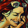 Barbara Gordon smiling knowingly