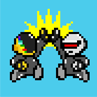 daft punk sprites high-fiving