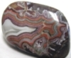 banded, multicolored agate stone