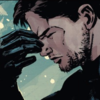 Comic!Verse Bucky Barnes pinching the bridge of his nose in exasperation