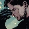 Comic!Verse Bucky Barnes pinching the bridge of his nose in exasperation