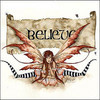 A fairy with the word, &#x27;Believe&#x27; behind her.