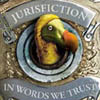 Jasper Fforde's Jurisfiction logo with Pickwick.