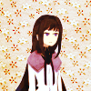Icon is a picture of Homura Akemi looking serious on a flowered background.